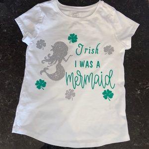 Girls Mermaid St Patrick's Day Shirt